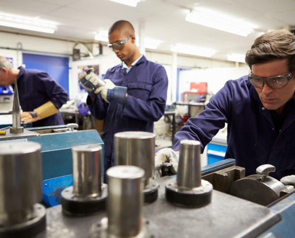 MetroFab workers in Workshop